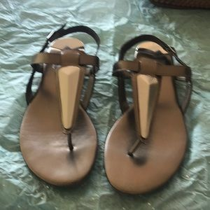 Bronze Dolce Vita Thong Sandal with decoration